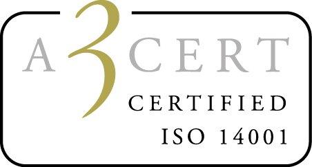 Logotyp för ISO 14001:2015 certifiering