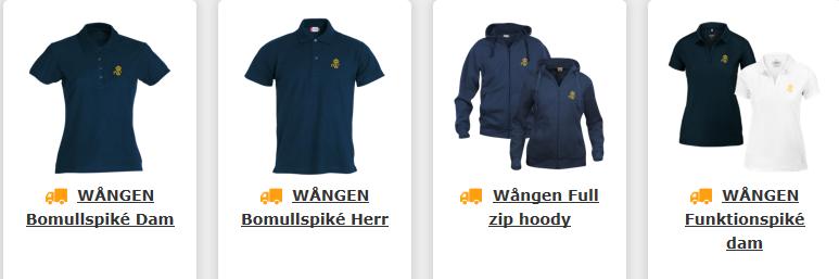 Produktbild från webbshop med pikétröjor och hoody med dragkedja